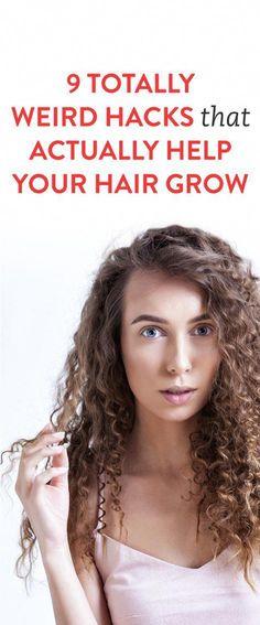 9 Totally Weird Hacks That Actually Help Your Hair Grow #EasyPromHairstyles Grow Baby Hair, Help Hair Grow, How To Grow Your Hair Faster, How To Make Hair, Beauty Tips For Hair, Hair Beauty, Beauty Secrets, Beauty Tricks, Beauty Ideas