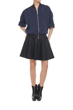 navy jacket blackbow