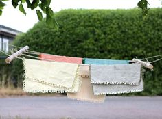 Easy Peasy tutorial on how to make this cute mini drying rack...aka clothes line - great for small spaces.  ds_diy_brittany_laundryrack_intro