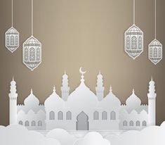 Ramadan background with mosque Desktop Background Nature, Ramadan Background, Logo Background, Background Patterns, Eid Mubarak Images, Eid Mubarak Card, Muslim Pictures, Islamic Pictures, Wallpaper Ramadhan