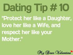 Protect her like a Daughter, love her like a Wife and respect her like your Mother. Can't even describe how much I'm in love with this. Quotes For Him, Quotes To Live By, Me Quotes, Funny Quotes, Qoutes, Anger Quotes, Divorce Quotes, Flirting Quotes, Relationship Quotes