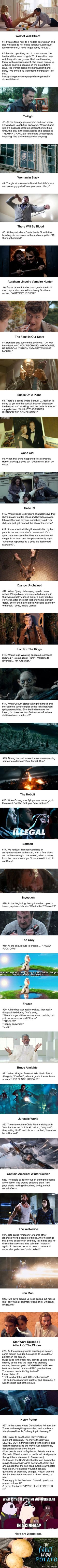 The Best Thing They've Overheard In Cinema•