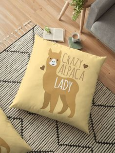 Crazy Alpaca Lady • Also buy this artwork on home decor, apparel, stickers, and more.
