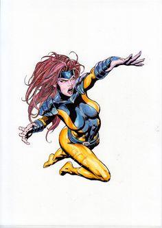Jean Grey (X-Men) (Watercolor) (Acuarela) José Martín