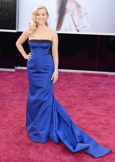 Reese Witherspoon at #Oscars 2013: Top 20 Best Dressed    http://www.fashionmagazine.com/blogs/society/red-carpet-society/2013/02/25/oscars-2013-red-carpet/ such a gorgeous colour blue