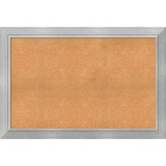 Framed Cork Board, Choose Your Custom Size, Romano Silver Wood (28 x 24-inch)