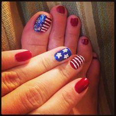 My July 4th nails!