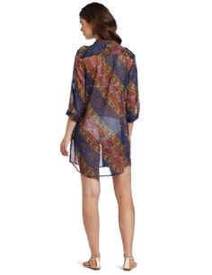 $73 Echo Design Women's Python Shirt Dress, Hot Viola, LargeFrom ECHO $73