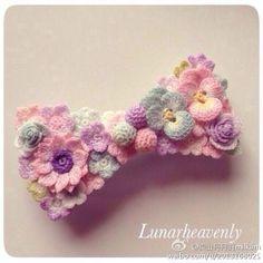 Crochet Brooch, Crochet Bows, Crochet Flower Patterns, Tatting Patterns, Macrame Patterns, Crochet Baby Hats, Knit Crochet, Crochet Necklace, Crochet Leaves