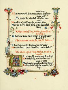 Alberto Sangorski Illuminations: Morte d'Arthur.