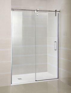 Mampara de ducha modelo MOVING 1 fijo + 1 corredera en Transparente