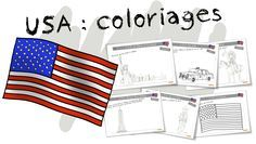 Coloriages BDG : Les USA et New york - Bout de gomme English Lessons, New York City, United States, Quelque Chose, Halloween, Continents, Montessori, Homeschooling, Alice