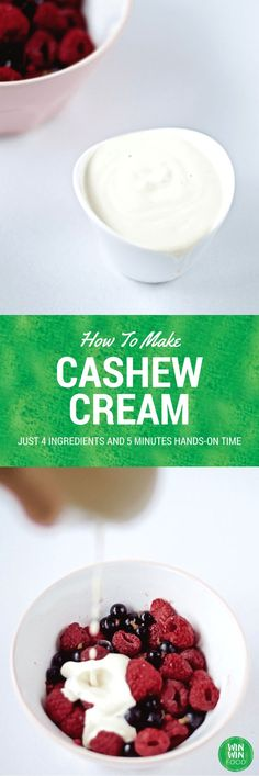 Cashew Cream | WIN-WINFOOD.com You're just 5 minutes active time away from this…