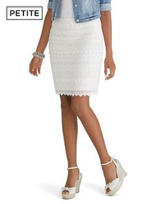 White House | Black Market Petite Tiered Lace Pencil Skirt #whbm