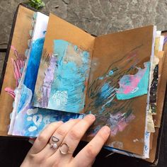 Art journaling and mixed media. Sketchbook Inspiration, Art Sketchbook, Art Journal Pages, Art Journals, Journal Prompts, Book Making, Art Techniques, Illustrations, Art Inspo