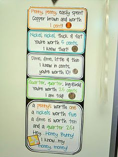 Teaching money in the classroom: Money poem Teaching Money, Teaching Math, Teaching Ideas, Teaching Tools, Creative Teaching, Math Classroom, Kindergarten Math, Classroom Ideas, Future Classroom