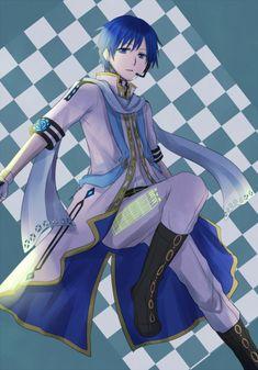 KAITO originator by Ichimura - illustrations Vocaloid Kaito, Kaito Shion, Death Note, Naruto, Love Blue, Sexy, Otaku, Fictional Characters, Appreciation