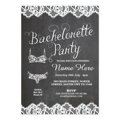 Bridal Shower Chalkboard Invitations Bachelorette Party Lingerie Shower Bridal Invite