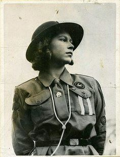 Princess Elizabeth as a Patrol Leader by Girl Guides of Canada, via Flickr herstory-archives-images