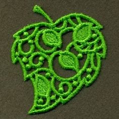 Filigree Leaf 2 - 4x4 | Fall | Machine Embroidery Designs | SWAKembroidery.com Ace Points Embroidery