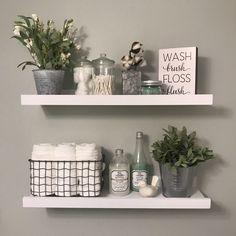Love my bathroom shelves!