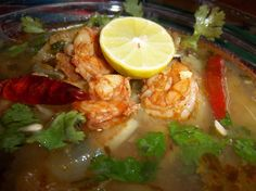 Jumbo Shrimp with Grilled Chayote Squash Soup HispanicKitchen.com