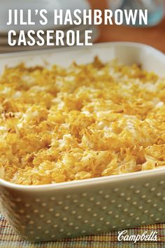 A favorite of all ages, this cheesy potato side dish is welcome at any pot luck, family gathering or holiday table.
