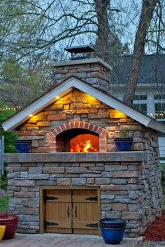 Close up of the pizza oven
