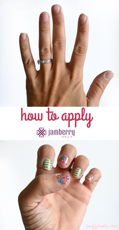 How to Apply Jamberry Nails -- the tips to applying them without lifting or creases!!