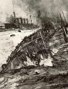 HMS ABOUKIR capsizing