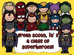 Superheroes Classroom Theme: Great Scott, it's a class of Superheroes--great pack by Bethany Ray $