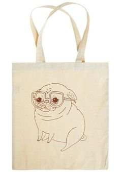 The amazing @Gemma Docherty Correll's Winston illustration on this tote gets me every time. So cute!