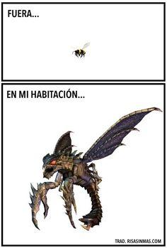 Un insecto en mi habitación.