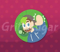 "2.25""+button+featuring+JackSepticEye!+ WATERMARK+FREE+"