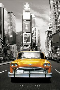 """FAR00141 - New York - Taxi Number One (24"""" x 36"""")"""