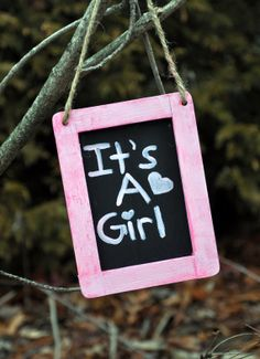 It's A Girl Pink Shabby Chic Rustic Sign by OhSoFooFoo on Etsy, $15.00