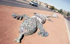 Tucson Oddity : Monstrous sculptures are in no rush to escape busy roadside. Read their tale: http://azstarnet.com/news/local/tucson-oddity-monstrous-sculptures-are-sights-for-sore-eyes/article_2736bfb8-a781-56bd-b351-5c25c31962d4.html