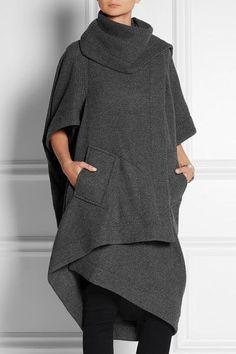 Vivienne Westwood Anglomania | Ribbed wool-blend blanket coat | NET-A-PORTER.COM