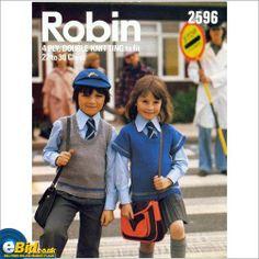 Childrens top sweater knitting pattern for 4 ply or DK yarn Robin patterns 2596 on eBid United Kingdom