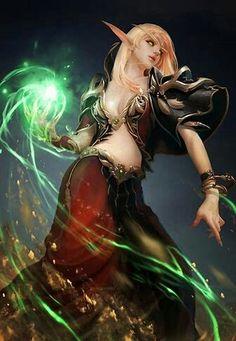 "elfgirls: ""Blood Elf Fan Art by Ji Bae Park "" Marvel Dc Comics, Dc Comics Art, Comics Girls, Injustice 2, Fantasy Girl, Dark Fantasy, Fantasy Characters, Female Characters, Dnd Characters"