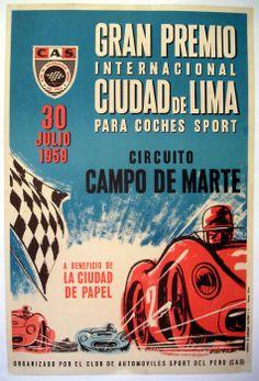 1959 Peruvian Grand Prix poster