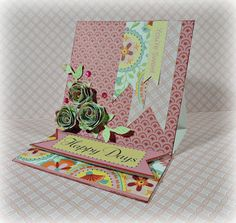by Brenda Rose   CTMH paper and stamps....Cricut flowers!