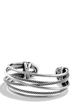 David Yurman 'Crossover' Narrow Cuff available at #Nordstrom