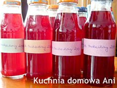 Kuchnia domowa Ani: Sok truskawkowy Finger Food, Hot Sauce Bottles, Coca Cola, Wine, Drinks, Drinking, Beverages, Coke, Drink