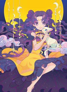 Sailor Moon - Luna and Artemis Sailor Moon Luna, Sailor Moon Crystal, Sailor Moon Fan Art, Sailor Moon Character, Sailor Saturn, Sailor Mars, Luna Moon, Manga Anime, Anime Art