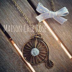 Vintage bike Necklace
