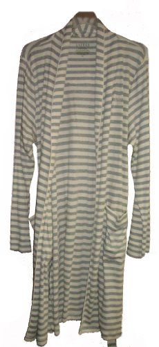Women's Lauren Ralph Lauren Robe Size XL (Gray Striped)