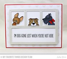Handmade card from Julie Dinn featuring Birdie Brown Lucky Dog #mftstamps
