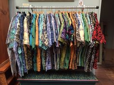 100% cotton button up Hawaiian style shirts represented by Human Arts Gallery in Ojai, CA.
