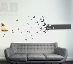 wall sticker wall decal BUTTERFLIES